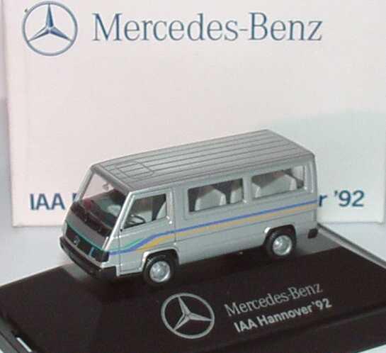 "1:87 Mercedes-Benz 100D II Bus silbermet. ""Nutzfahrz.-IAA Hannover ´92"" (MB)"