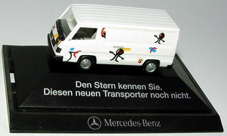 """1:87 Mercedes-Benz 100D II Kasten """"Den Stern kennen Sie. Diesen neuen Transporter noch nicht"""" (MB) (oV)"""