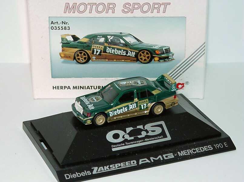 """1:87 Mercedes-Benz 190E 2.5-16 Evolution II DTM 1992 """"Zakspeed-Diebels"""" Nr.17, Asch"""