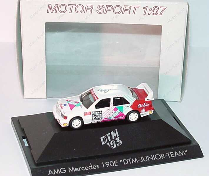 "1:87 Mercedes-Benz 190E 2.5-16 Evolution II DTM 1993 ""DTM Junior Team, Unix Rent"" Nr.20, Grau"