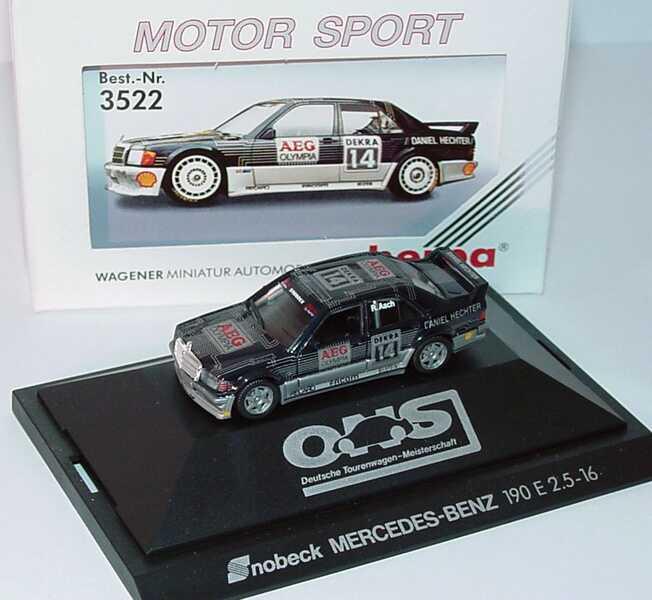 """1:87 Mercedes-Benz 190E 2.5-16 Evolution I DTM 1990 """"Snobeck, AEG"""" Nr.14, Asch"""