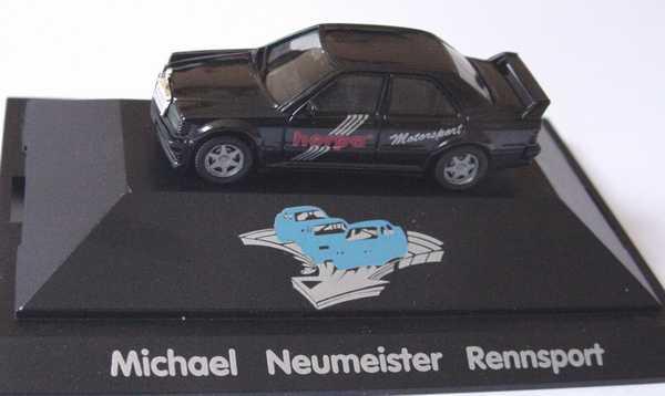 """1:87 Mercedes-Benz 190E 2.5-16 Evolution I schwarz """"Herpa Motorsport, Michael Neumeister Rennsport"""" (oV)"""