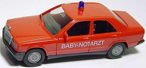 """1:87 Mercedes-Benz 190E Feuerwehr """"Baby-Notarzt"""" rot"""