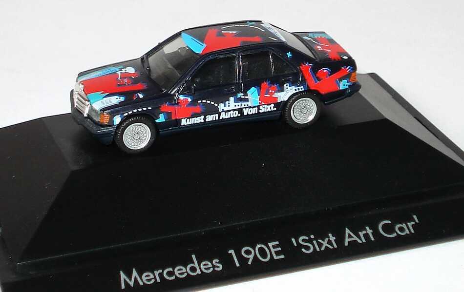 """1:87 Mercedes-Benz 190E """"Sixt Art Car"""" schwarz/rot"""