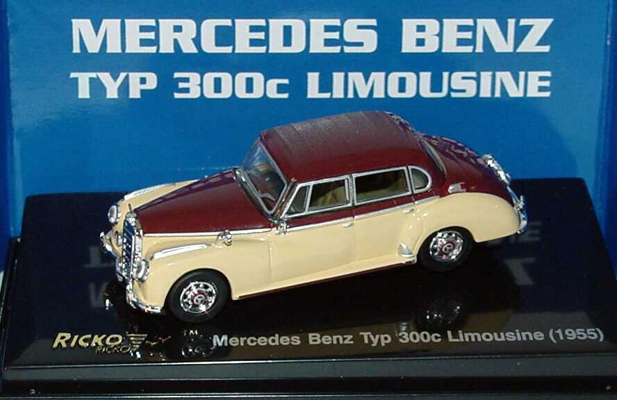 1 87 mercedes benz 300c limousine beige weinrot ricko 38877 for Mercedes benz 300c