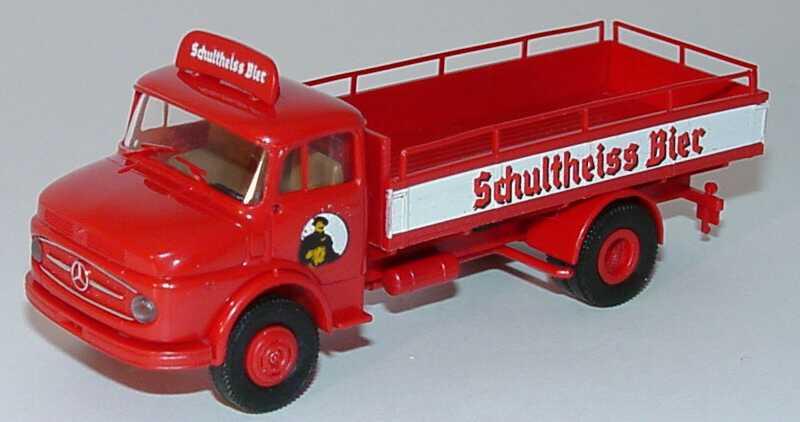 Mercedes-Benz 322 2a Getränke-Lkw Schultheiss Bier Brekina 4716 in ...