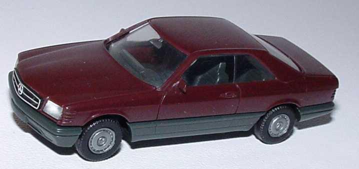 1:87 Mercedes-Benz 560SEC (C126) dunkelweinrot (1. Version)