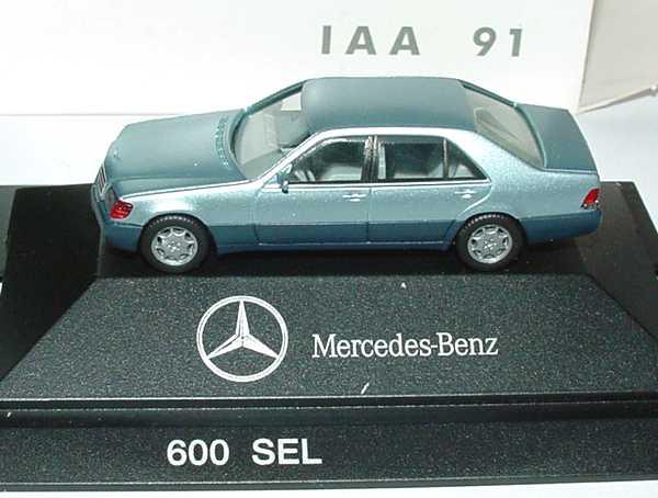 1:87 Mercedes-Benz S-Klasse 600SEL (W140) perlblau-met. IAA 91 (MB)