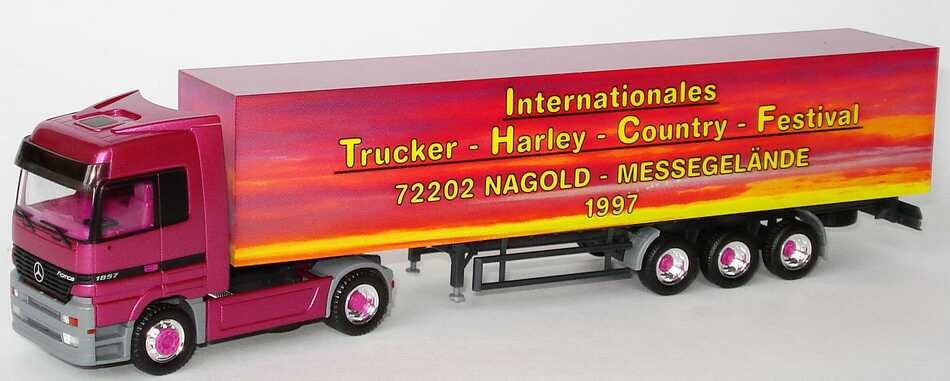"1:87 Mercedes-Benz Actros LH Fv Cv KoSzg 2/3 ""Internationales Trucker-Harley-Country-Festival Nagold 1997"""