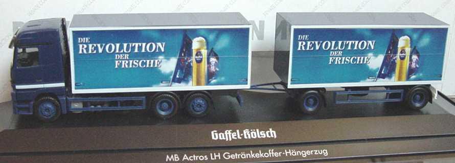 """1:87 Mercedes-Benz Actros LH GetränkeKoHgz 3/2 """"Gaffel Kölsch, Die Revolution der Frische"""""""