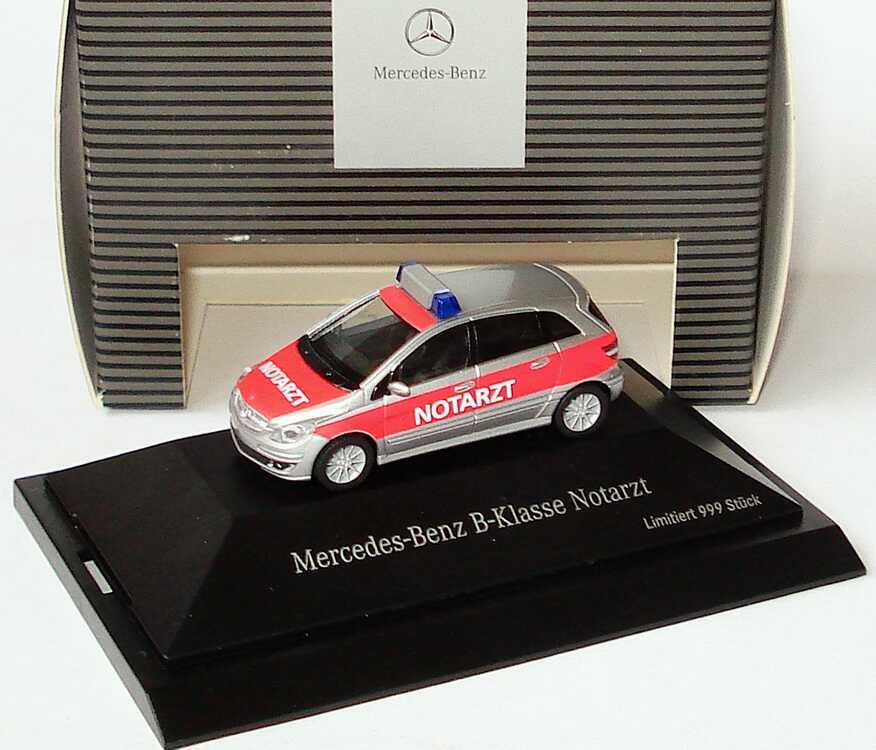 1:87 Mercedes-Benz B-Klasse (W245) Notarzt silber/rot (MB)