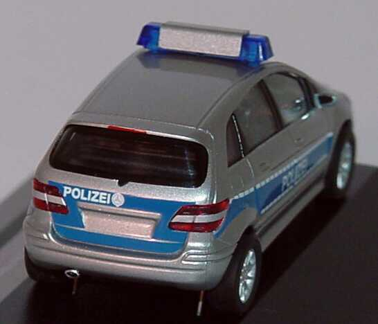 mercedes benz b klasse w245 polizei silbermet blau werbemodell herpa b66961385 bild 3. Black Bedroom Furniture Sets. Home Design Ideas