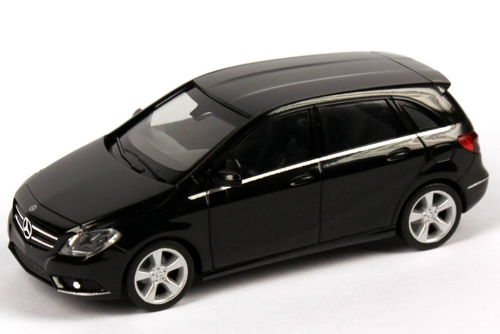 1 87 mercedes benz b klasse w246 nacht schwarz black b class 2011 dealer oem ebay. Black Bedroom Furniture Sets. Home Design Ideas