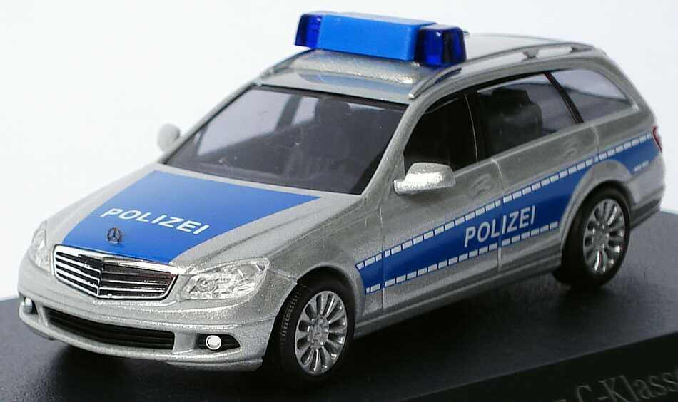 Mercedes-Benz C-Klasse T-Modell Elegance (S204) Polizei silber/blau ...