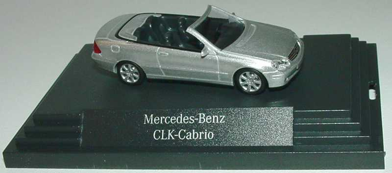 1:87 Mercedes-Benz CLK Cabrio (A209) brillantsilbermet. (MB)