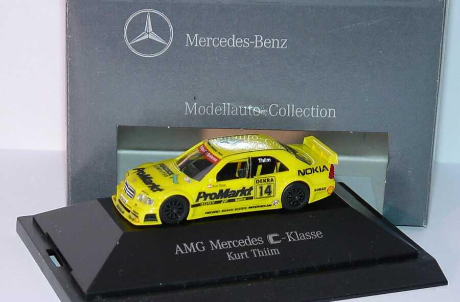 """1:87 Mercedes-Benz C 180 DTM 1994 """"Zakspeed, ProMarkt"""" Nr. 14, Kurt Thiim (MB)"""
