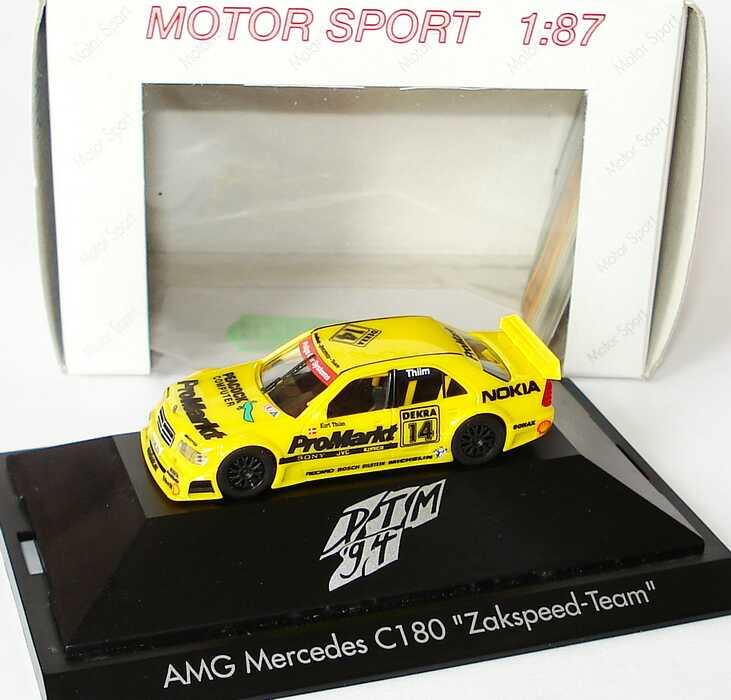 "1:87 Mercedes-Benz C 180 DTM 1994 ""Zakspeed, ProMarkt"" Nr. 14, Kurt Thiim"