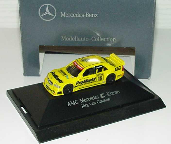 """1:87 Mercedes-Benz C 180 DTM 1994 """"Zakspeed, ProMarkt"""" Nr.15, Jörg van Ommen (MB)"""