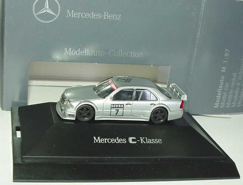 1:87 Mercedes-Benz C-Klasse W202 DTM silbermet. Nr.7 (IAA ´93 Prototyp)(MB) IAA-Sondermodell