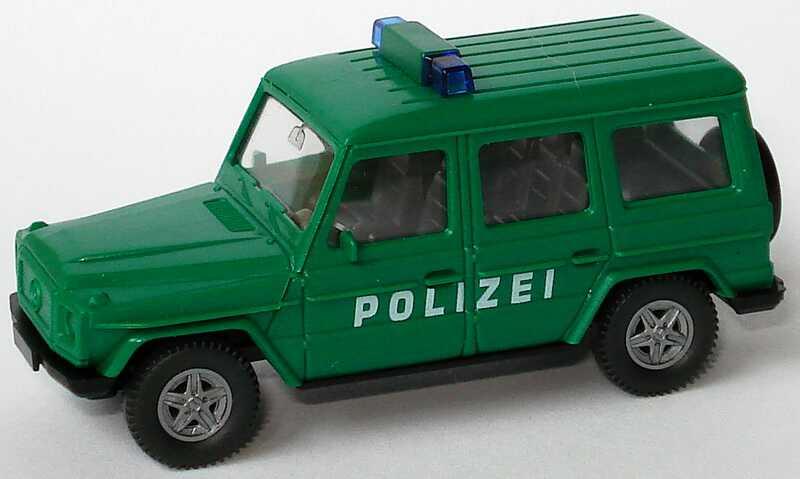 1 87 mercedes benz g 230 lang polizei gr n neue warnleuchten wiking. Black Bedroom Furniture Sets. Home Design Ideas