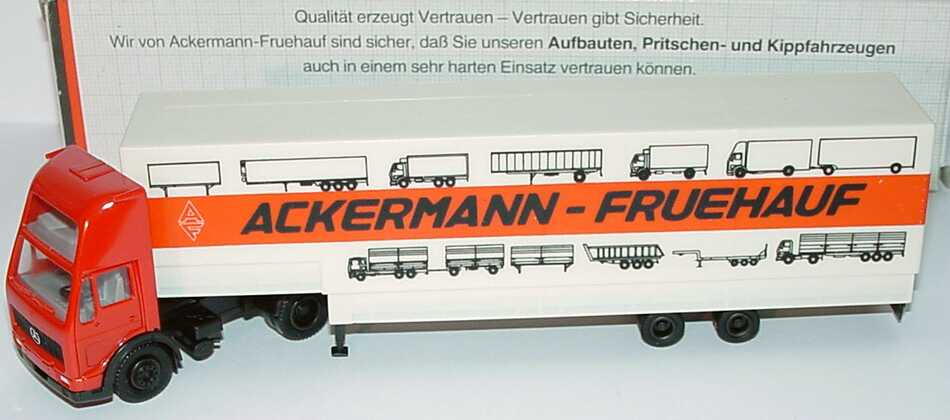 "1:87 Mercedes-Benz NG (K) Topsleeper Jumbo-PPSzg 2/2 ""AF Ackermann - Fruehauf"" (Werbeverpackung)"