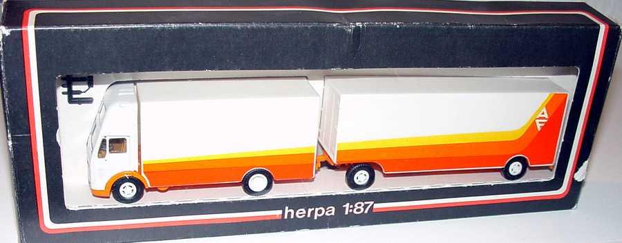 """1:87 Mercedes-Benz (K) Topsleeper MöbeltransportHgz 2/2 """"AF Ackermann - Fruehauf"""""""