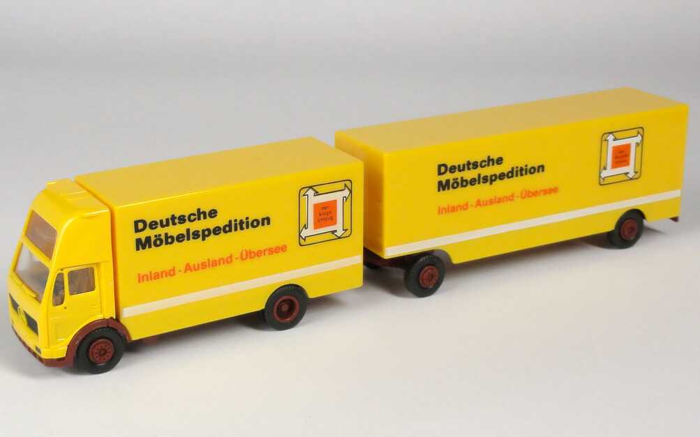 "1:87 Mercedes-Benz (K) Topsleeper MöbeltransportHgz 2/2 ""Deutsche Möbelspedition DMS"" (DMS)"