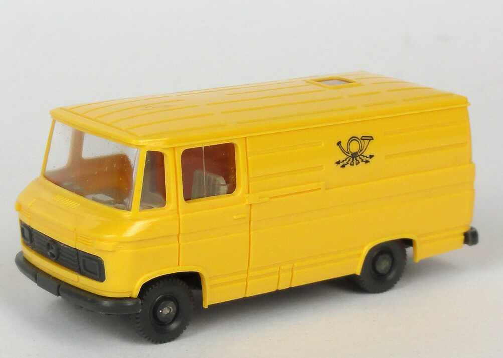1 87 mercedes benz l406 kasten deutsche post gelb druck altes logo wiking. Black Bedroom Furniture Sets. Home Design Ideas