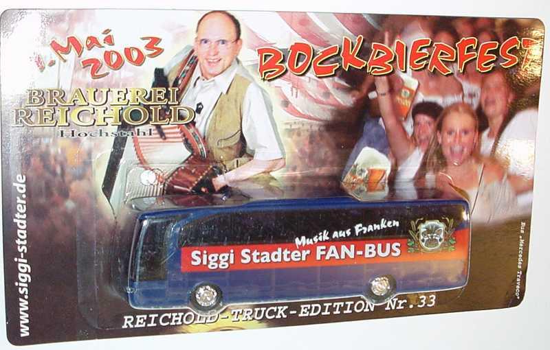 "1:87 Mercedes-Benz O 580 Travego 2a  ""Brauerei Reichold - Siggi Stadter Fan-Bus"""