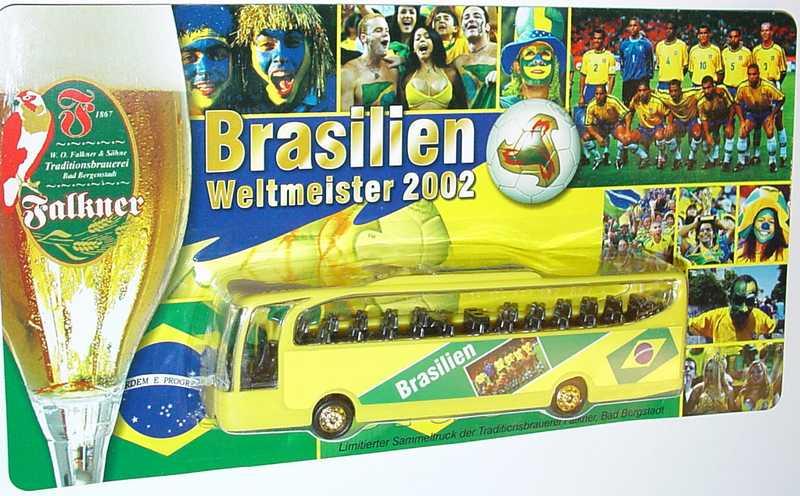 "1:87 Mercedes-Benz O 580 Travego 2a  ""Falkner Brauerei - Brasilien - Weltmeister 2002"""