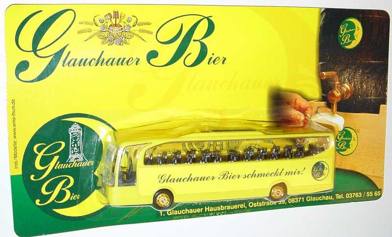 "1:87 Mercedes-Benz O 580 Travego 2a  ""Glauchauer Bier schmeckt mir!"""