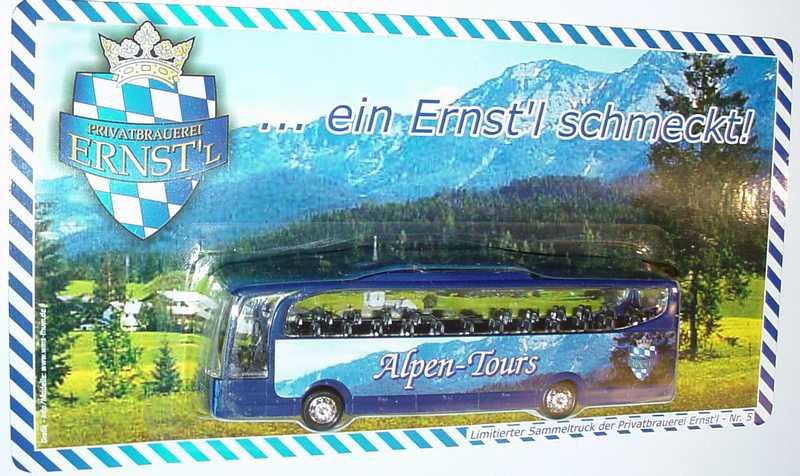 "1:87 Mercedes-Benz O 580 Travego 2a  ""Privatbrauerei Enst´l - Alpen-Tours"""