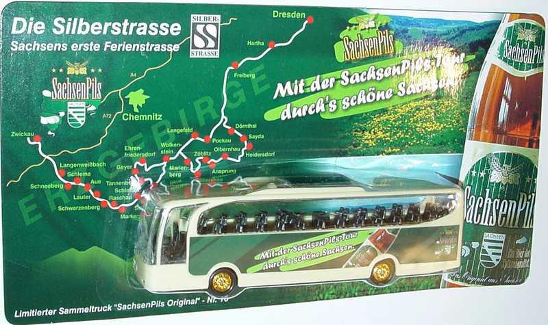 """1:87 Mercedes-Benz O 580 Travego 2a  """"SachsenPils - Mit der SachsenPils-Tour durchs schöne Sachsen"""""""
