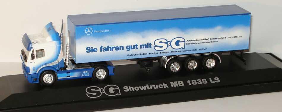 """1:87 Mercedes-Benz SK Fv Cv KoSzg 2/3 """"S&G Showtruck, Sie fahren gut mit S&G"""""""