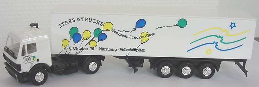 "1:87 Mercedes-Benz SK KoSzg 2/3 ""Stars & Trucks - European-Trucker-Days ´91 Nürnberg"""
