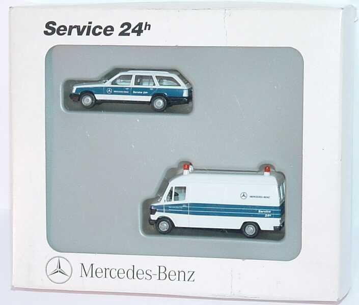 Mercedes Benz Service D: 1:87 Mercedes-Benz Set-Packung Service 24h (300TE + 207D