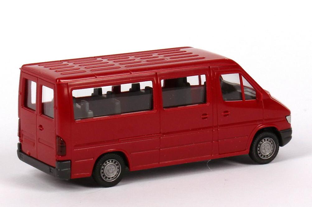 Mercedes Benz Sprinter Bus T1n Rot Wiking 28101 Bild 2