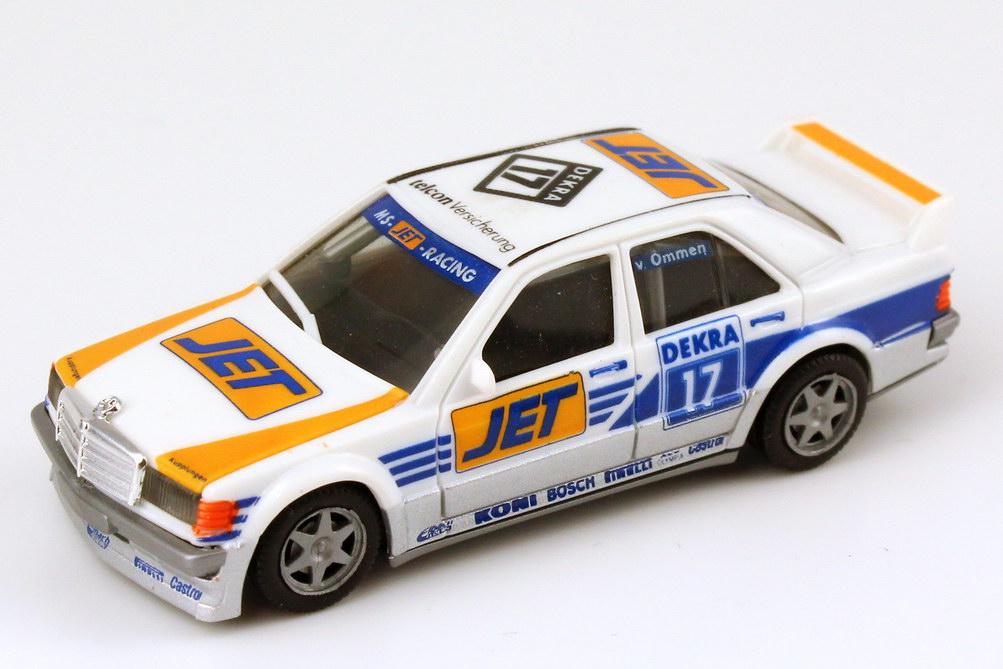 """1:87 Mercedes-Benz 190E 2.5-16 Evolution I DTM 1990 """"MS-Jet"""" Nr.17, v. Ommen (oV)"""