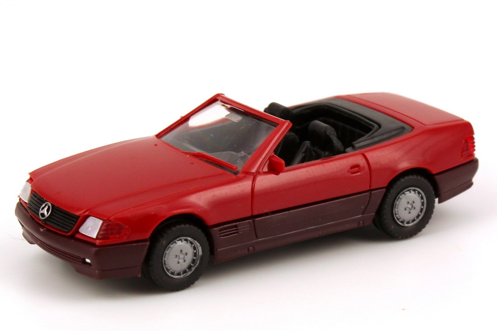 1 87 mercedes benz sl 500sl r129 red with hardtop herpa for 87 mercedes benz