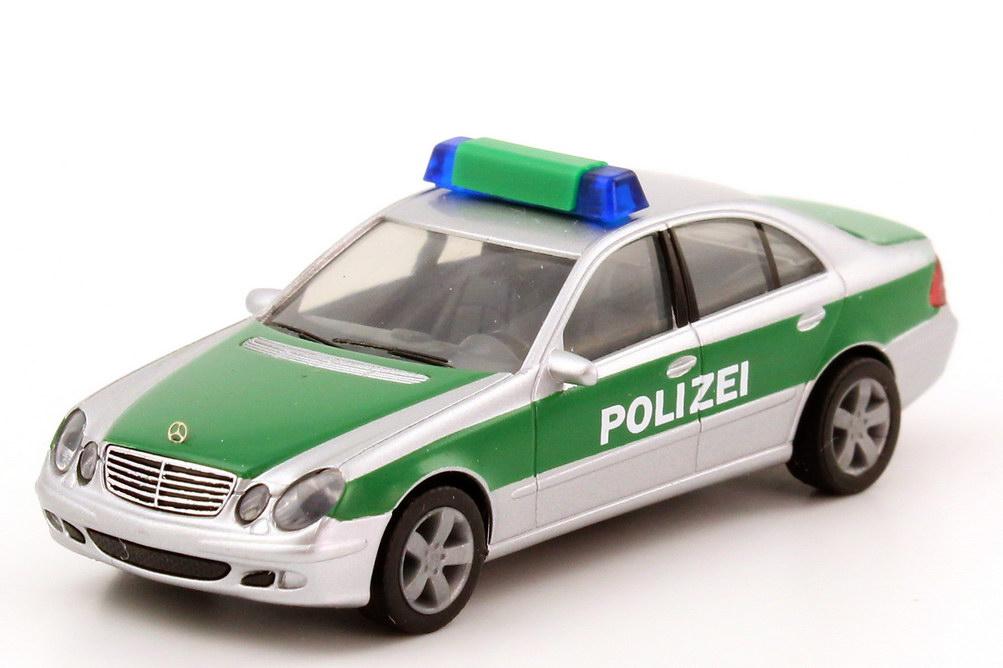 1 87 mercedes benz e klasse w211 polizei baden w rttemberg silber met gr n herpa 045834. Black Bedroom Furniture Sets. Home Design Ideas