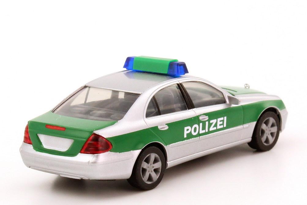 mercedes benz e klasse w211 polizei baden w rttemberg silber met gr n herpa 045834 bild 2. Black Bedroom Furniture Sets. Home Design Ideas