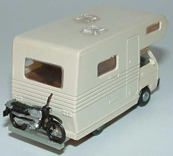 mitsubishi l300 i wohnmobil alkoven beige mit motorrad. Black Bedroom Furniture Sets. Home Design Ideas