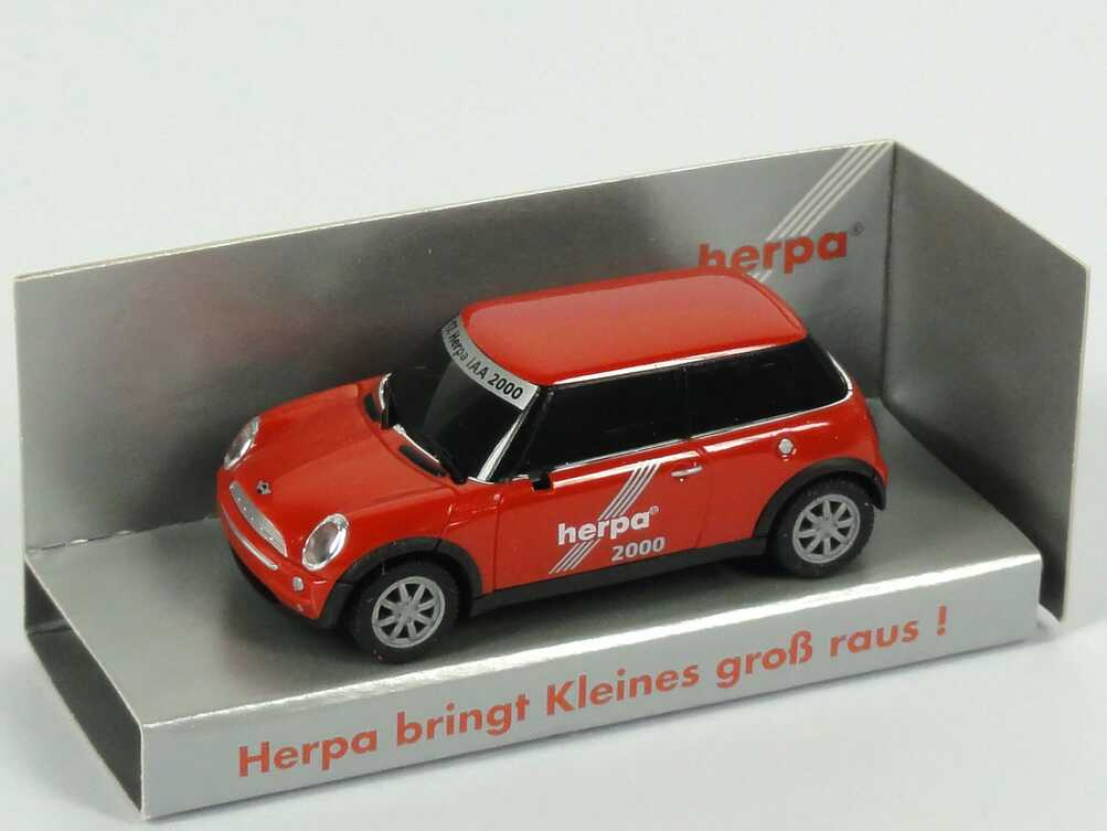 """1:87 New Mini Cooper """"17. Herpa-IAA 2000, Herpa bringt Kleines groß raus!"""""""