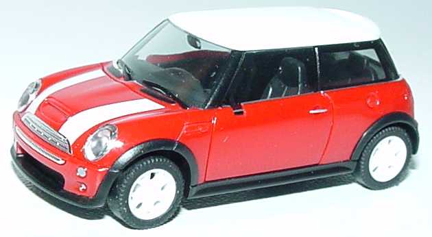 new mini cooper s r53 rot wei herpa 023115 in der modellauto galerie. Black Bedroom Furniture Sets. Home Design Ideas