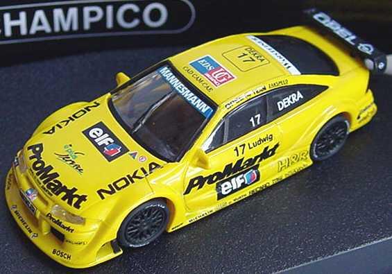 "1:87 Opel Calibra V6 ITC 1996 ""Zakspeed, ProMarkt"" Nr.17, Ludwig"