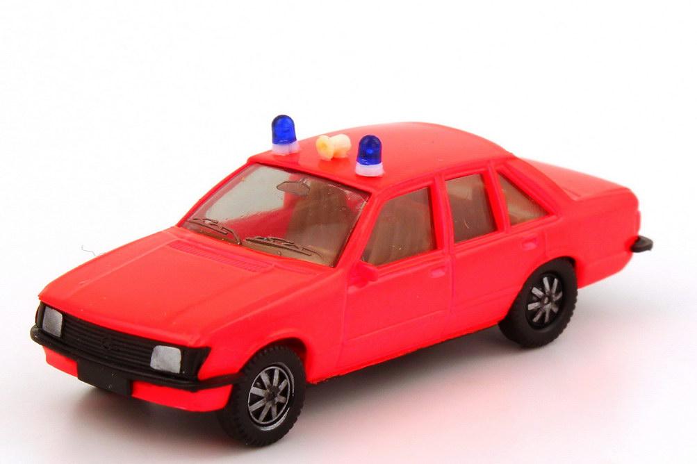 1:87 Opel Rekord E Feuerwehr leuchtrot (2 Warnleuchten, silberne Scheinwerfer)
