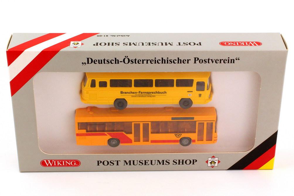 1 87 post museums shop set packung deutsch sterreichischer postverein mercedes o 302 postbus. Black Bedroom Furniture Sets. Home Design Ideas