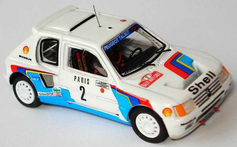 peugeot 205 turbo 16 rallye monte carlo 1985 shell nr 2 vatanen harryman siegerfahrzeug. Black Bedroom Furniture Sets. Home Design Ideas
