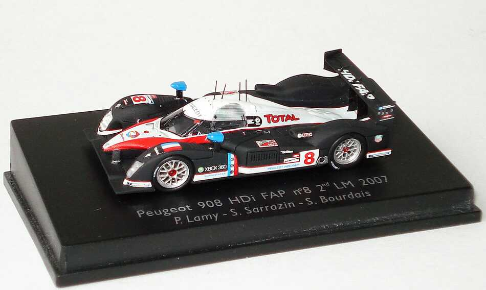 """1:87 Peugeot 908 HDi FAP LeMans 2007 """"Total"""" Nr.8, Lamy / Sarrazin / Bourdais"""