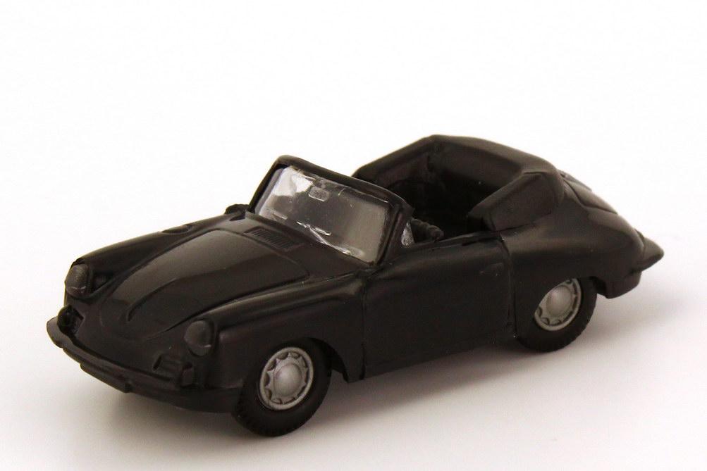 1:87 Porsche 356 Cabrio schwarz, schwarze Sitze (oV)